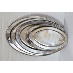 Plat ovale en inox 55 cm