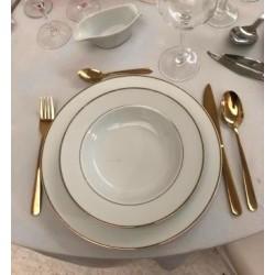 Assiette dorée 25 cm